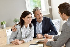 couple talking to professional small file