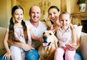 fam with dog small